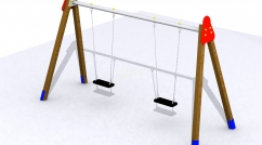 Two-person flat seat swing