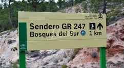 Sign for Natural Spaces in Andalusia