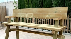 Bench for nature paths