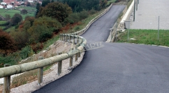 Safety barrier for roads