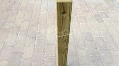 Removable parking pylon in wood or steel