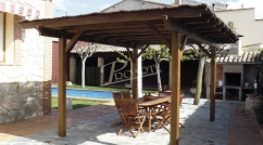 Sloping roof porches and gazebos