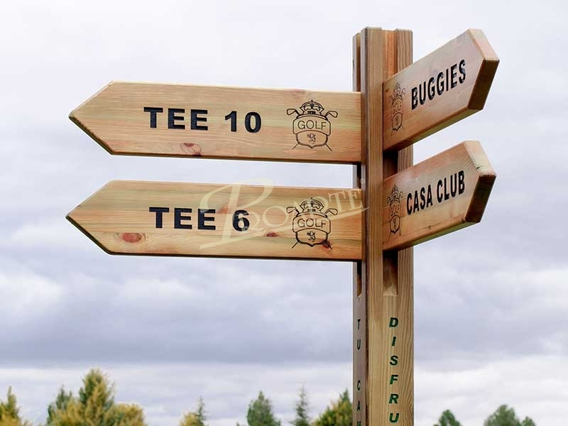 Signposting for golf courses