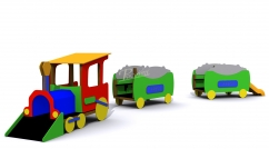 "Complete ""Mining Train"" children's game"