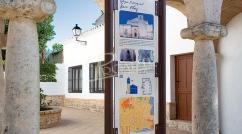 Cartel interpretativo señalización turística peatonal
