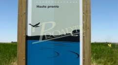 Sign for Natural Spaces in Castilla La Mancha
