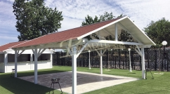Hipped roof porches and gazebos