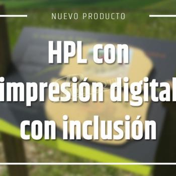 HPL con impresión digital con inclusión de imagen